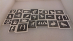 10 - 100 cute & funny animal themed mini small stencils for etching on glass  Ideal for Fund raising,  hobby craft